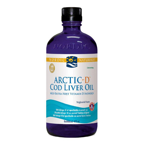 Image of   Torskelevertran +D citrus Cod liver oil 474ml fra Nordic Naturals