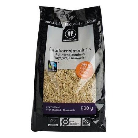 Jasmin ris brune Fair Trade Økologisk 500gr fra Urtekram