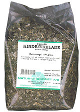 Image of   Hindbærblade 100 gr fra Naturdrogeriet