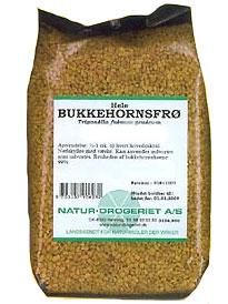Bukkehornsfrø Hel 200 gr fra Naturdrogeriet