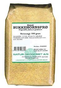Image of   Bukkehornsfrø knust 500 gr fra Naturdrogeriet