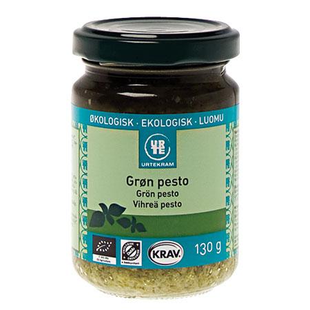 Pesto grøn økologisk 130ml fra Urtekram