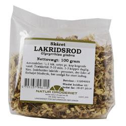 Image of   Lakridsrod skåret 100gr fra Naturdrogeriet