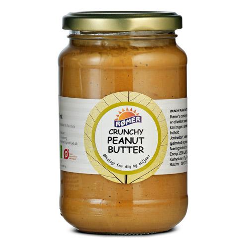 Peanut-butter chruncy uden sukker økologisk 370 ml fra Rømer