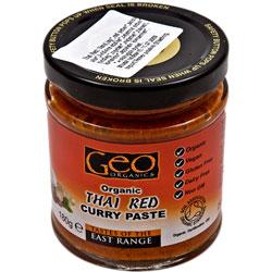 Karry paste rød chai glutenfri økologisk 180 gr fra Rømer