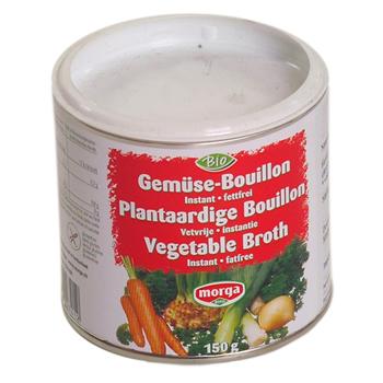 Morga bouillon pulver, fedtfri, glutenfri økologisk 150 gr