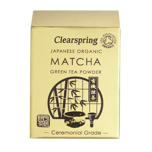 Matcha grøn te pulver ceremonial grade 30gr Clearspring