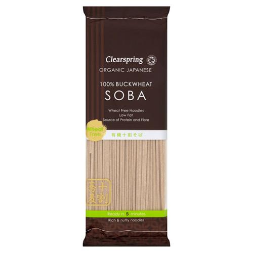 Soba Noodles (100% boghvede) 250gr fra Clearspring