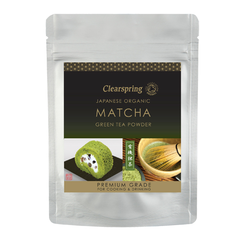 Matcha grøn te pulver 40gr Clearspring