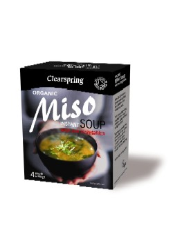 Instant Miso Soup - with Sea Vegetable Økologisk 40gr fra Clearspring