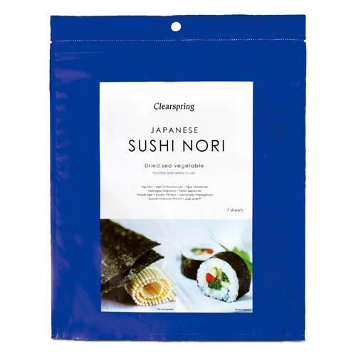 Nori sushi plader (perforeret) - ristet 17gr fra Clearspring
