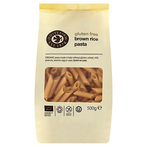 Image of   Brun Ris pasta penne 500gr glutenfri fra Doves Farm
