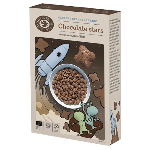 Image of Chocolate stars glutenfri økologisk 375gr fra Doves farm