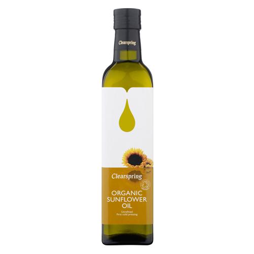 Solsikke olie 500ml økologisk fra Clearspring