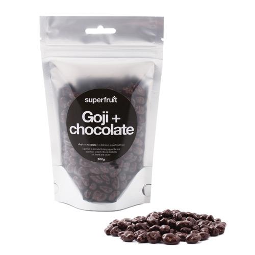 Goji bær med chokolade 200gr fra Superfruit