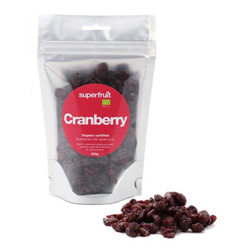 Tranebær tørret 200gr fra Superfruit