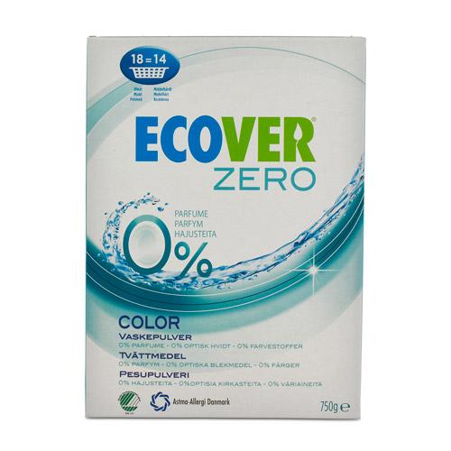 Tilbud på Vaskepulver colour Zero 750gr fra Ecover