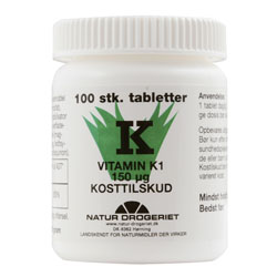Image of K-vitamin 150 ug 100 tab