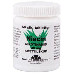 Image of   Niacin (amid) B3 30 mg 50 tab