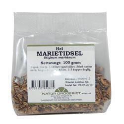 Image of   Marietidsel hel 100 gr fra Naturdrogeriet