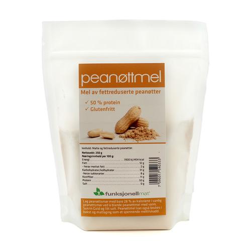 Peanutmel fedtreduceret glutenfri 250gr