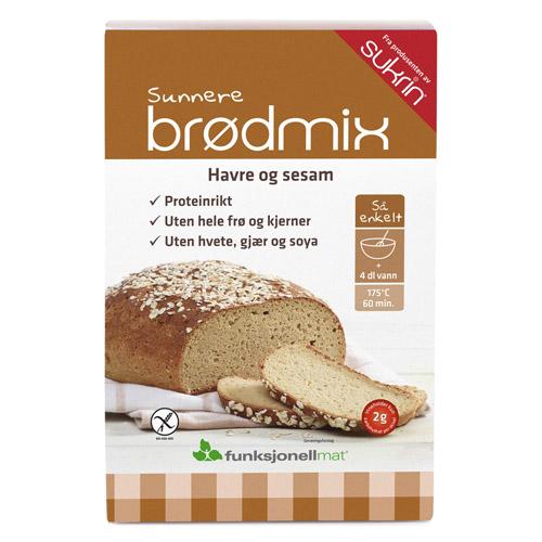 Brødmix sesam havre glutenfri 220gr