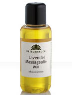 Image of   Lavendel massageolie 100 ml fra Urtegaarden