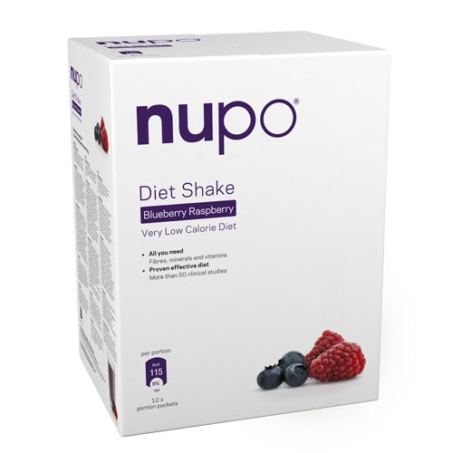 Image of Nupo Diet Shake Raspberry Blueberry 12x32 gr