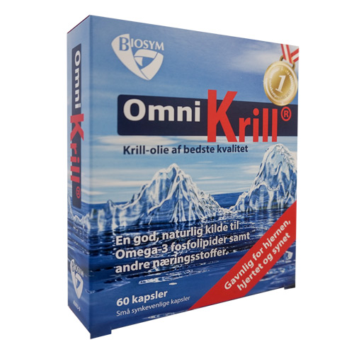 Biosym OmniKrill 500 mg (60 kapsler)