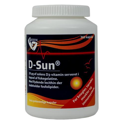 Image of Biosym D-Sun 20 mcg D-Vitamin (360 kapsler)