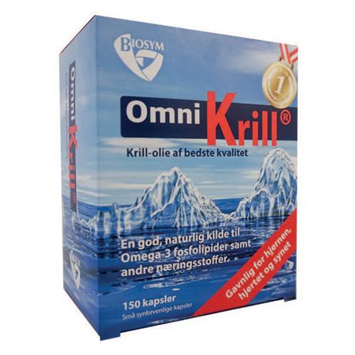 Biosym OmniKrill 500 mg (120 kapsler)
