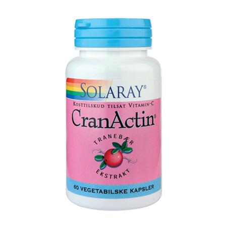CranActin Tranebærekstrakt 400 mg 60kap fra Solaray
