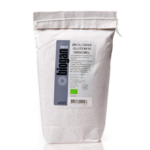 Hirsemel økologiske glutenfri 1000gr Biogan