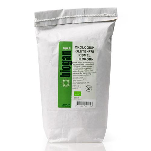 Rismel fuldkorn økologisk Glutenfri 1000gr Biogan