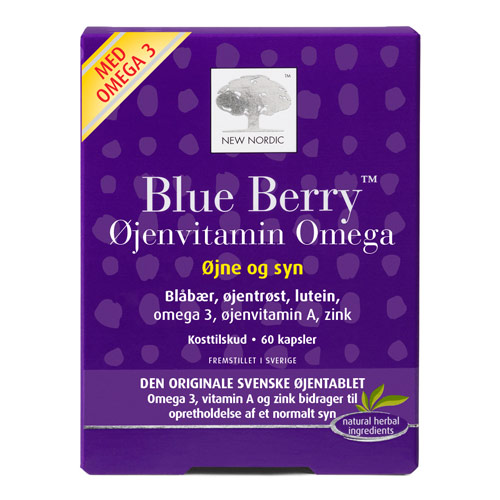 Blue Berry Omega 3 60 tab fra New Nordic Healthcare