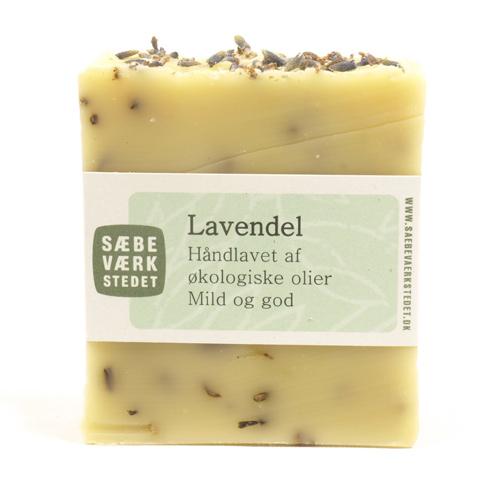 Image of   Lavendel håndlavet økologisk sæbe 100gr