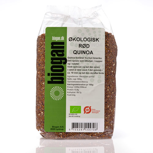 Quinoa rød økologisk 500gr fra Biogan