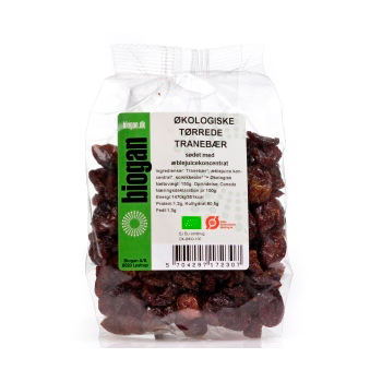 Tranebær sødet m. æble økologiske 150gr fra Biogan