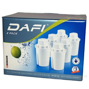 Filterpatroner 6-pack Dafi