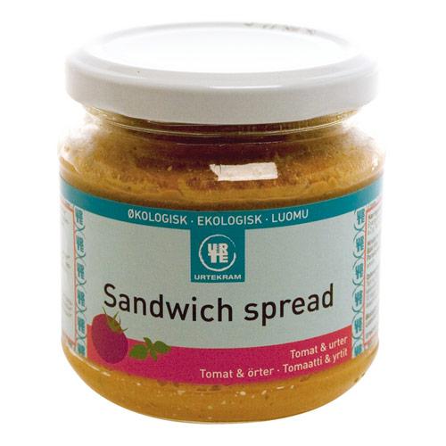 Sandwich spread tomat/urter økologisk 180ml fra Urtekram