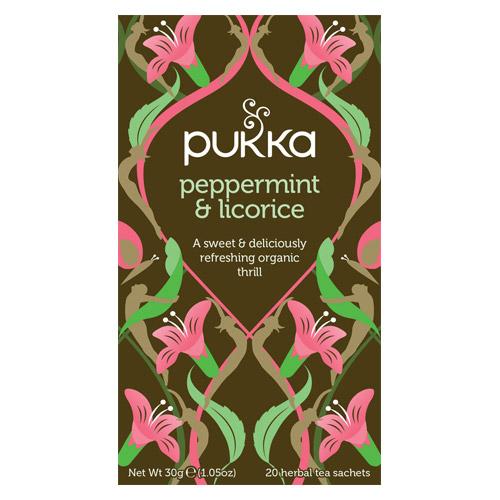 Peppermint & Licorice Økologisk 20 br fra Pukka