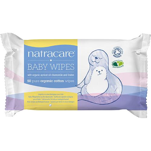 Image of Natracare baby vådservietter Øko 50 stk