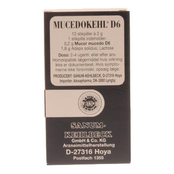 Mucedokehl stikpiller 10 stk