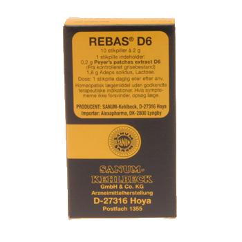 Rebas D6 stikpiller 10 stk