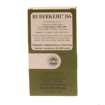Image of   Ruberkehl stikpiller D6 10 stk