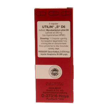 Image of   Utilin S D6 kapsler (rød) 5 kap