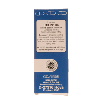 Utilin D6 kapsler (blå) 5 kap
