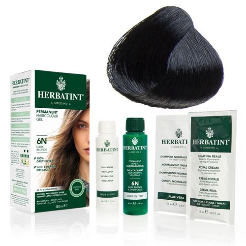 Natur hår farve fra Herbatint (Black - 1N)