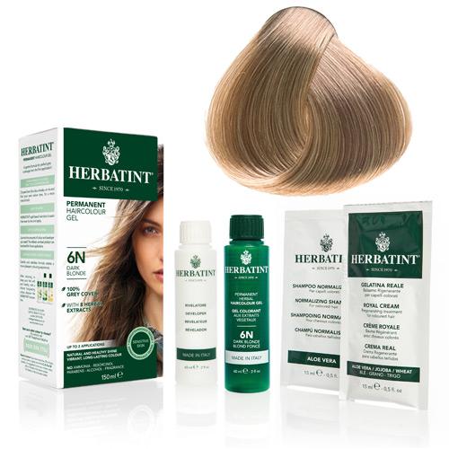 Natur hår farve fra Herbatint (Light blonde 8N)
