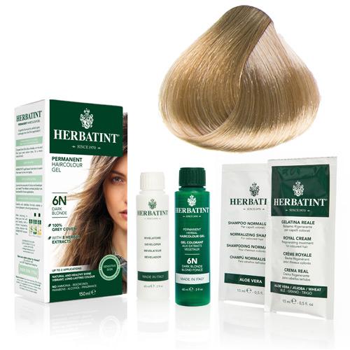 Natur hår farve fra Herbatint (Honey blond - 9N)